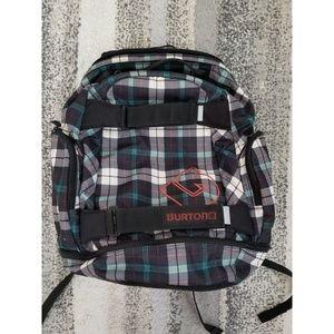Burton Bags - Burton Backpack Black Teal and White Plaid